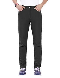 "Nonwe Women's Outdoor Quick Drying Cargo Pants Black L/32"" I"