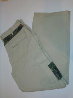 RedHead Mens 36/30 Cargo Pants Khaki camo Cotton Hiking Trai