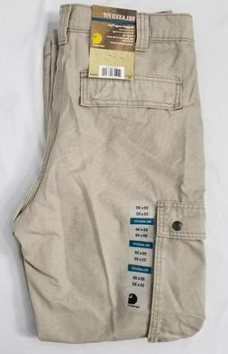 relaxed fit rugged cargo work khaki pants