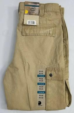 Carhartt Relaxed Fit Rugged Cargo Work Khaki Pants.  Men's S