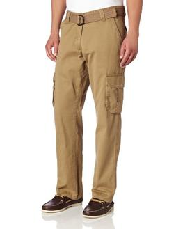 Lee Men's Relaxed Fit Utility Belted Cargo Pants, Barley, 33