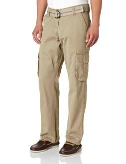 Lee Men's Relaxed Fit Utility Belted Cargo Pants, Beachwood,