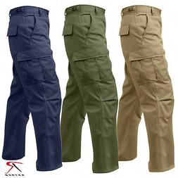 Rothco Relaxed Fit Zipper Fly BDU Cargo Pants - Olive Drab o