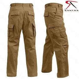 Rothco Relaxed Fit Zipper Fly BDU Pants - Coyote Brown Milit