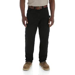 WRANGLER Riggs Workwear Ripstop Ranger Black Cargo Pants Men
