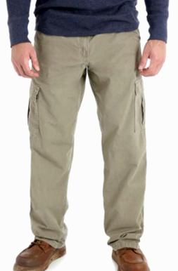 Wrangler RipStop Cargo Pant Khaki Relaxed Tech Pocket Sz 34