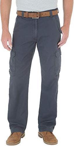Wrangler Genuine Mens Ripstop Cargo Pants 42W x 30L Navy Blu