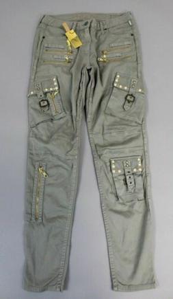 Robin's Jeans Women's Raptor Cargo Pants W/ Smoky Topaz Stud