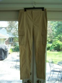 Saks 5th Avenue 9|15 Cotton Cargo Pants Beige Size 8 NWT