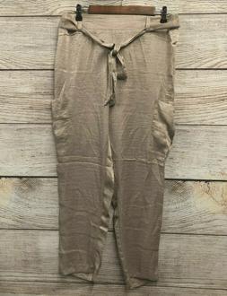 Soho Satin Cargo Pants Womens Size XL Black Shiny Very Thin