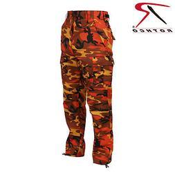 Savage Orange Camouflage BDU Pants 6-Pocket Poly/Cot Cargo P