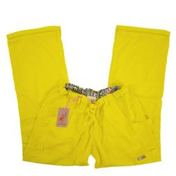 Koi Scrub Pants Cargo Bottoms Canary 701-080 Lindsey