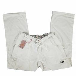 Koi Scrub Pants Cargo Bottoms White 701-001 Lindsey