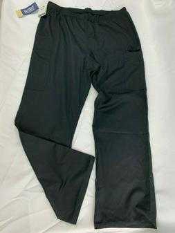 Cherokee Scrub Pants Women's  Large Black Cargo 44200A WorkW