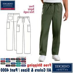 Cherokee Scrubs ORIGINALS Men's Drawstring Cargo Pants 4000