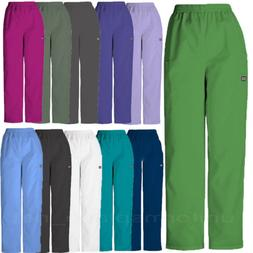Cherokee Scrubs Pants Women Cargo Pocket Pull on Elastic Wai