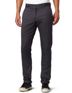 Dickies Men's Skinny Straight Fit Work Pant, Charcoal, 26x32