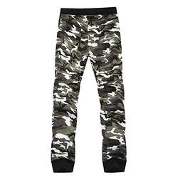 Cyose Fashion Male Slim Camouflage Men Pants Man Trousers Me