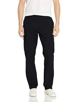 Amazon Essentials Men's Slim-Fit Cargo Pant, Black, 34W x 32