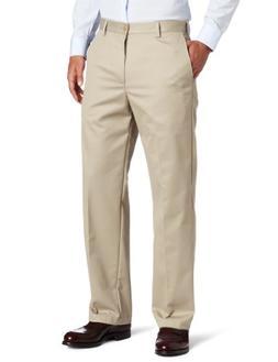IZOD Straight Fit American Chino Flat Front Pants 40x32, Kha