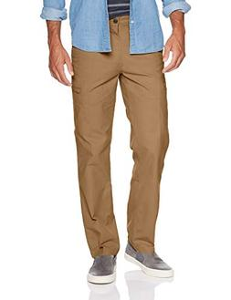 Dockers Men's Straight Fit Utility Cargo Pant, Tobacco, 36W