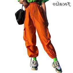 Focal20 Streetwear Orange Women <font><b>Pants</b></font> <f