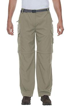 Little Donkey Andy Men's Stretch Convertible Pants Zip-Off Q