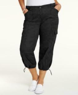 Style & Co Women's Plus Size everyday value Capri Cargo Pant