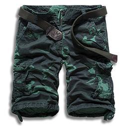 Freezing Men's Summer Multi-Pocket Overalls Loose Straight P