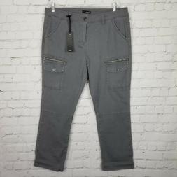 Supplies by Union Bay Womens NWT Gray Capri Cropped Pants Si