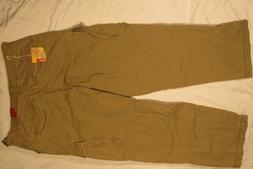 MOSSIMO SUPPLY MENS PANTS 34X30 OLIVE CARGO TROUSER 100% COT