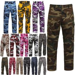 Tactical BDU Pants Camo Cargo Uniform 6 Pocket Camouflage Mi