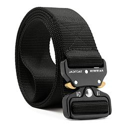 Fairwin Tactical Belt, Military Style Webbing Riggers Web Be