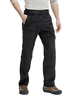 CQR CQ-TLP104-BLK_36W/32L Men's Tactical Pants Lightweight E