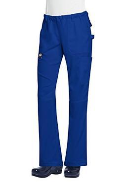"""Koi Tech Women's Lindsey 2.0"""" Cargo Scrub Pant- Royal Blue-"""