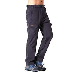 Clothin Men's Softshell Fleece-Lined Ski Cargo Pants - Warm,