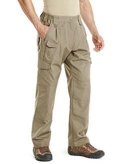 CQR CQ-TLP105-KHK_36W/32L Men's Tactical Pants Lightweight E
