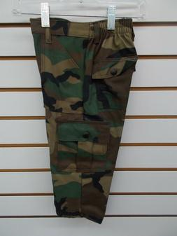Boys Cargo Army Camo Pants Size 4