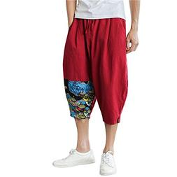 Trousers for Men,Men's Casual Slim Sports Pants Calf-Length