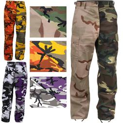 Two Tone Camo Cargo Pants Military Fashion BDU Army Fatigues