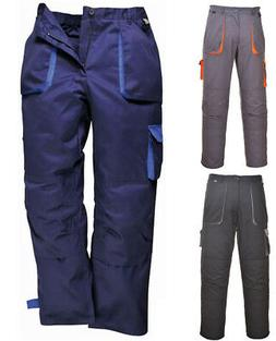 Portwest TX11 Texo Contrast Work Cargo Trousers   Knee Pad P
