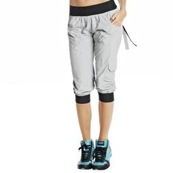 Zumba Fitness Women's Ultimate Orbit Cargo Capri, Smoke, XX-