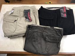Union Bay Cargo Pants 8 Pockets Black & Tan NWT Size 32,34,4
