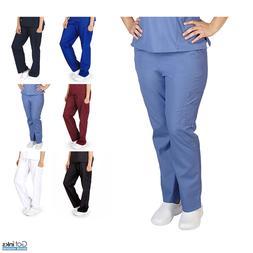 Unisex Men/Women Cargo Scrub Pants Petite Size Medical Hospi