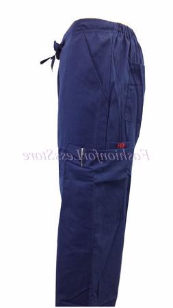 Unisex Scrub Cargo Pockets Pants  -