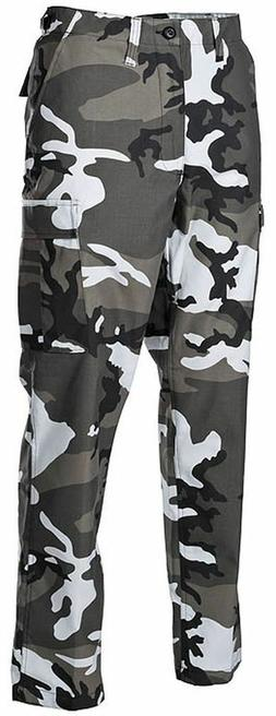 URBAN CAMOFLAGE  MENS  BDU Cargo Pants Mens Military CITY CA