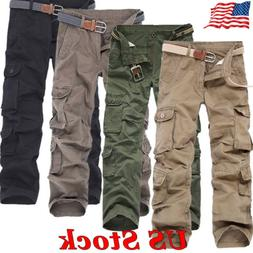 US Men's Military Army Style Trousers Cotton Cargo Pants Com