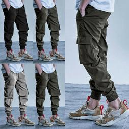 US Men Tactical Cargo Pants Harajuku Joggers Harem Hip Hop S