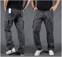 US Mens Cargo Work Pants Combat Military Thick Casual/Travel