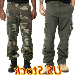 ✅US Mens Combat Cargo Trousers Tactical Work Pocket Outdoo